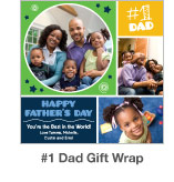 #1 Dad Gift Wrap