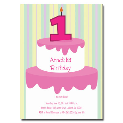 Invitation Cards For Ladies Party. 1st  1CakeGirlINthumb jpg
