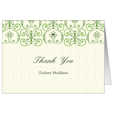 Adorned Cross Thank You Card