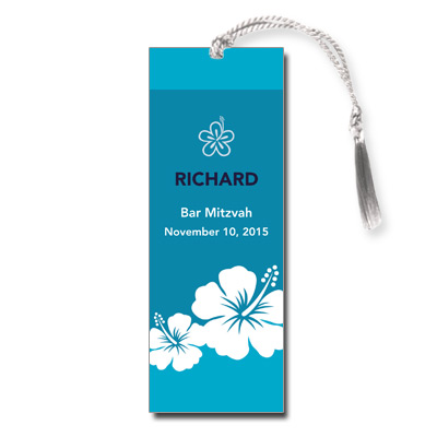 Aloha Blue Bar Mitzvah Bookmark