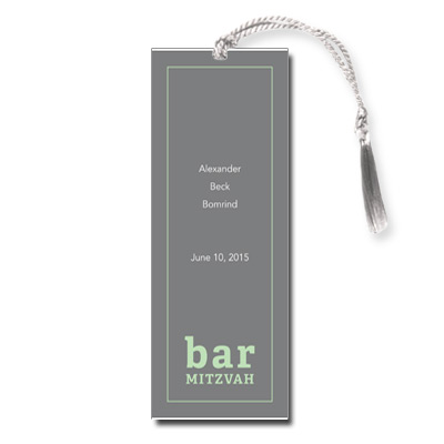 Classic Frame Mint Bar Mitzvah Bookmark