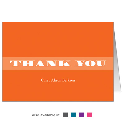 Basic Color Bar Mitzvah Thank You Card