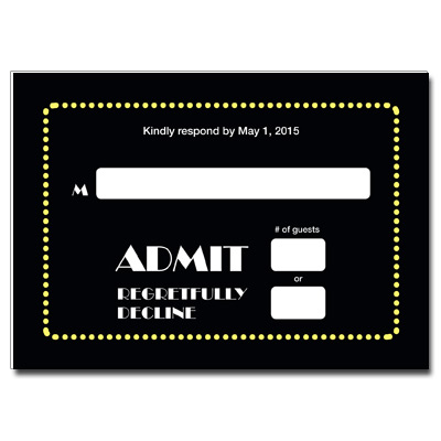 Broadway Ticket Bar Mitzvah Response Card