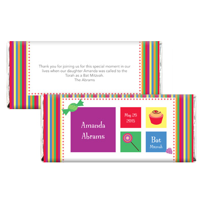 Candyland Bat Mitzvah Candy Wrapper