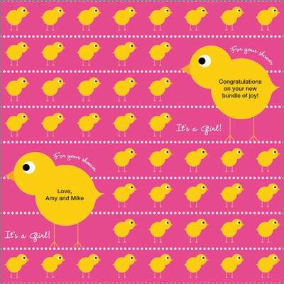Little Chick Girl Gift Wrap