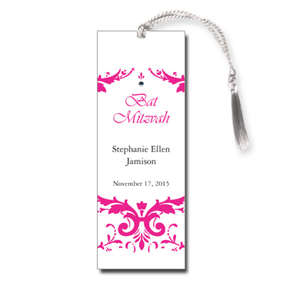 Damask Bat Mitzvah Bookmark