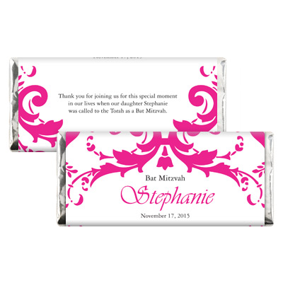 Bar bat mitzvah candy wrappers for Bat candy bar wrapper template