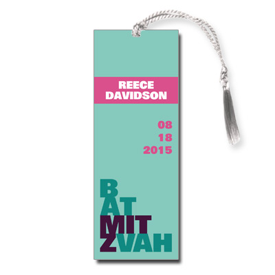 Escalade Pink Bat Mitzvah Bookmark