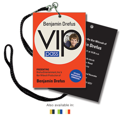 VIP Pass Bar Mitzvah Invitation