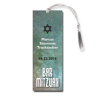 Granite Grunge Bar Mitzvah Bookmark