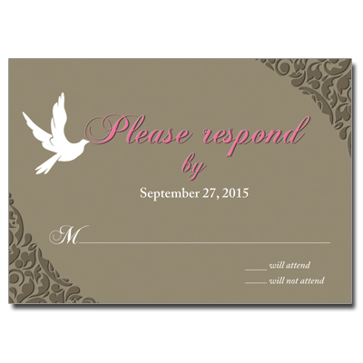White Dove First Communion Response Card