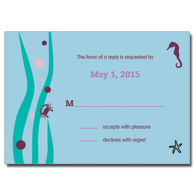 Under the Sea Purple Bat Mitzvah Response Card