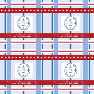 Red, White & Blue Gift Wrap