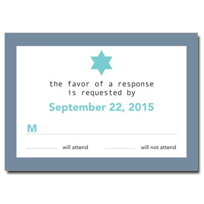 Six Points Bar Mitzvah Response Card