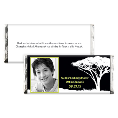 Tree Of Initiation Bar Mitzvah Candy Wrapper