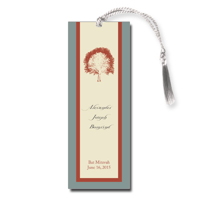 Painted Tree Tan Bar Mitzvah Bookmark