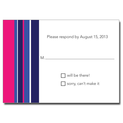 Chai Stripes Purple Bat Mitzvah Response Card
