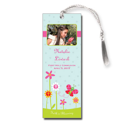 Faith is Blooming First Communion Bookmark