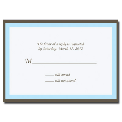 Chocolate Blue Response Card