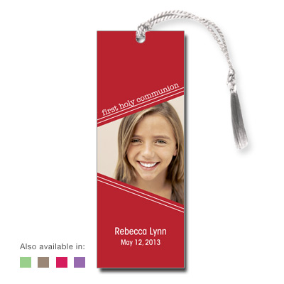 Angled Colors First Communion Bookmark