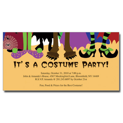 Halloween Costume Birthday Party Invitations as perfect invitation layout