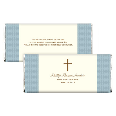 Diamond Blue First Communion Candy Wrapper