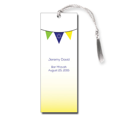 Fiesta Flag Bar Mitzvah Bookmark