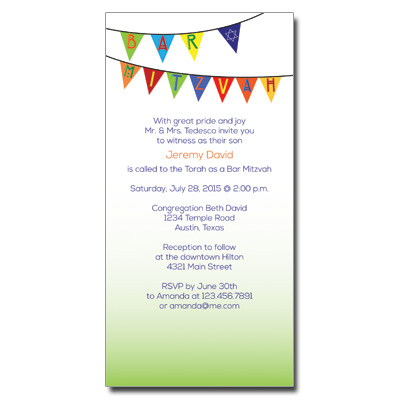 Fiesta Flag Bar Mitzvah Invitation