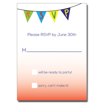 Fiesta Flag Bar Mitzvah Response Card