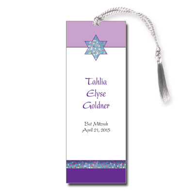 Mosaic Bat Mitzvah Bookmark