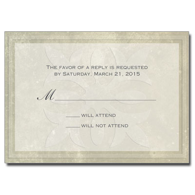 Our Savior First Communion Response Card