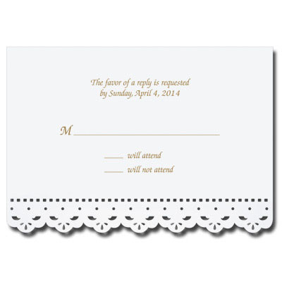 Lace Cut First Communion Response Card