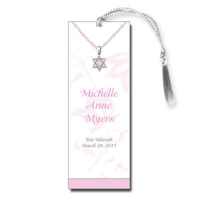 Jeweled Star Necklace Bat Mitzvah Bookmark