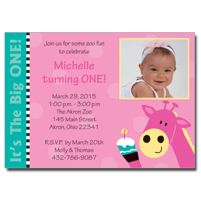 pinkGiraffeINthumb2jpg – 1st Birthday and Baptism Invitations
