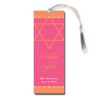 Pink Sherbet Bat Mitzvah Bookmark
