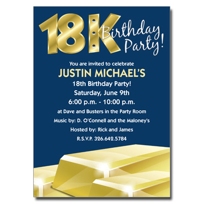 18k Gold Invitation Pricing Options