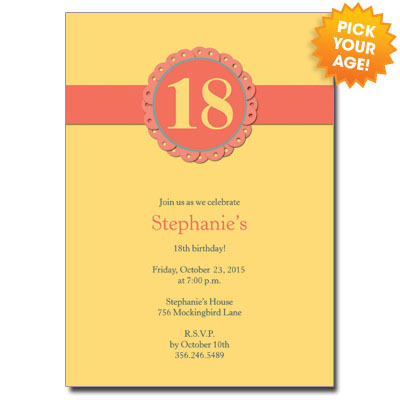 18 In Bloom Invitation