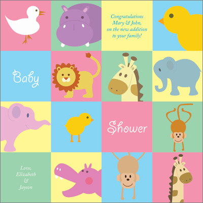 Animals Personalized Wrapping Paper Baby