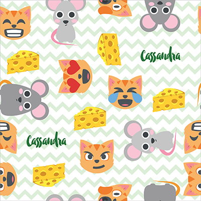 40 Personalized Wrapping Paper Cat And Mouse