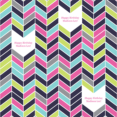 Colorful Chevron Personalized Wrapping Paper