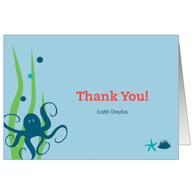 Under the Sea Bar Mitzvah Thank You Card