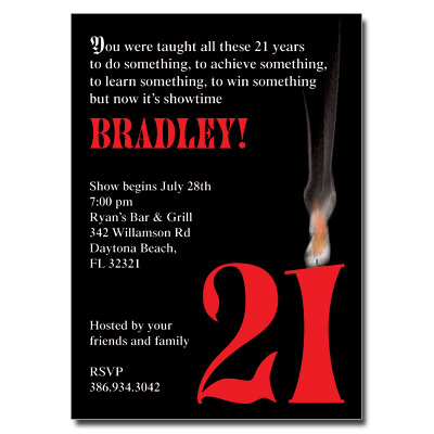 Twenty One Invitation