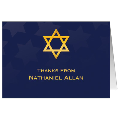 Reflection Bar Mitzvah Thank You Card